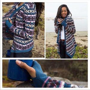 Betabrand Fair Isle Mission Wrap Cardigan Sweater